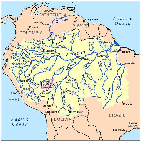 Acre river map